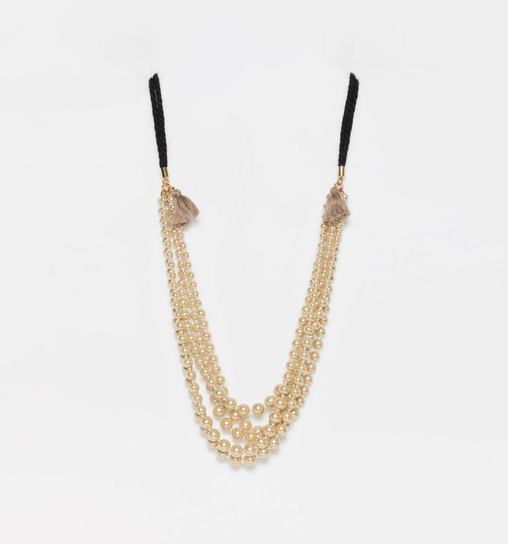 5c7360e2f487 Collar Perlas Con Borlas Textiles Ref S503989 - Studio F