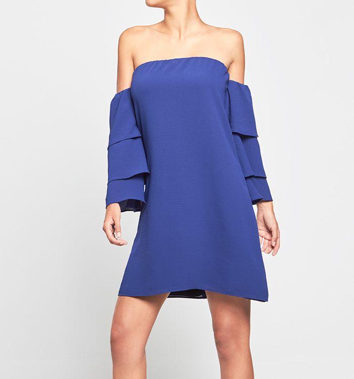 Lujoso Vestidos De Coctel Azul Patrón - Vestido de Novia Para Las ...