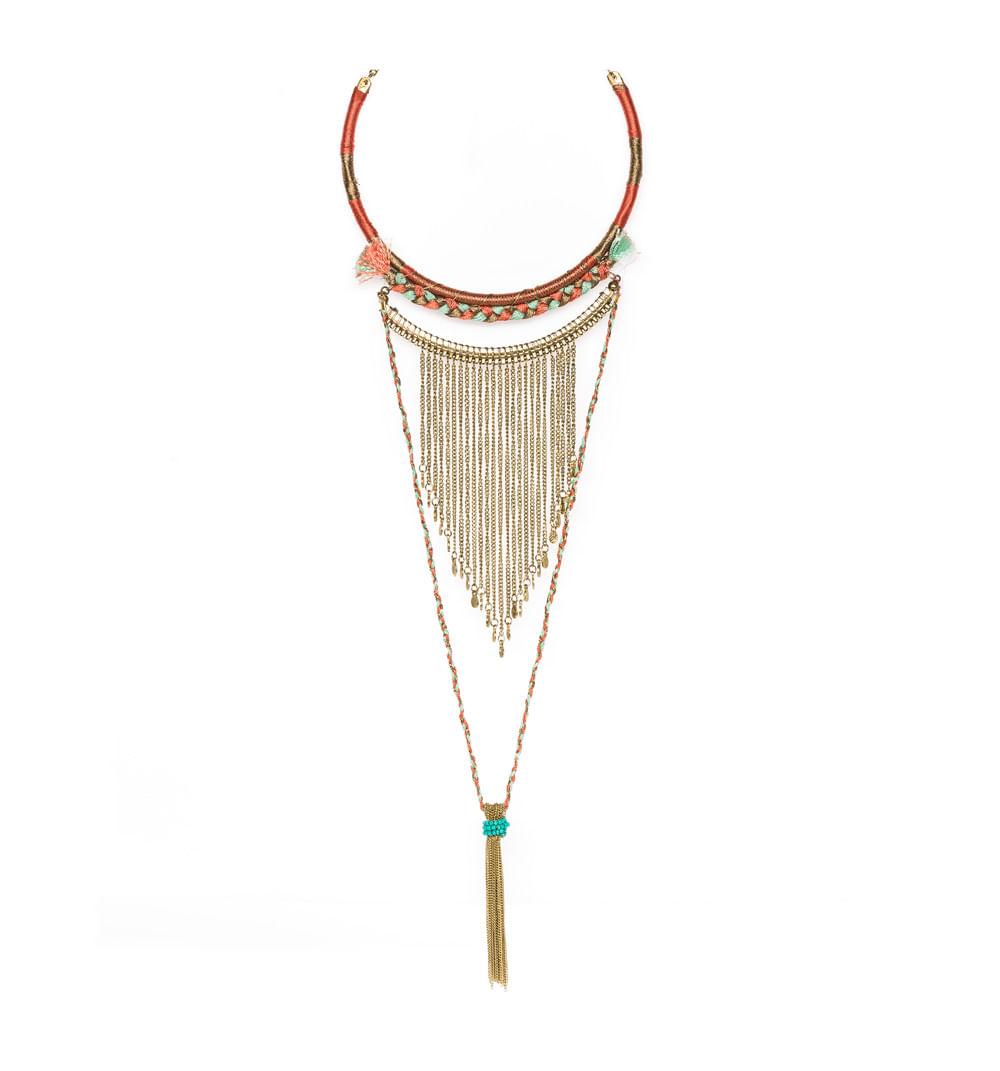 a17f547c96c8 Collar Bohemio Con Flecos De Cadena Ref S504013 - Studio F
