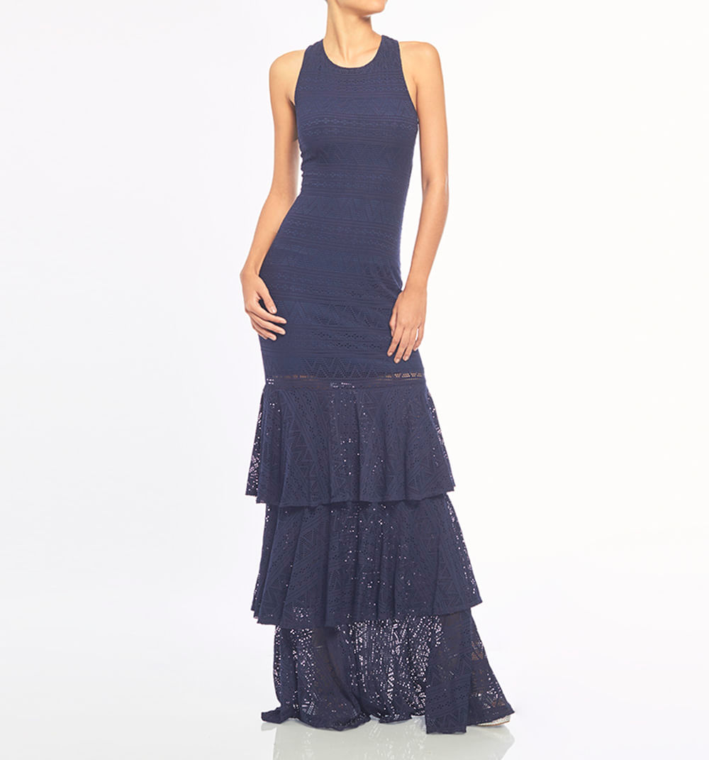 Vestido Largo Con 3 Boleros Ref S069792 - Studio F
