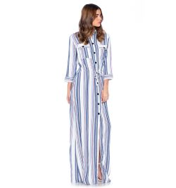 Vestido camisero largo xxl
