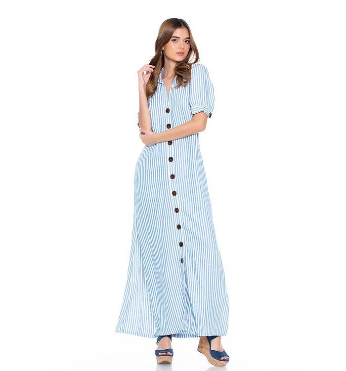 Zapatos para vestido rayas azul y blanco