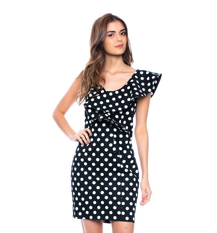 vestido corto ajustado con hombros asimétricos y bolero aeaacf9694a3