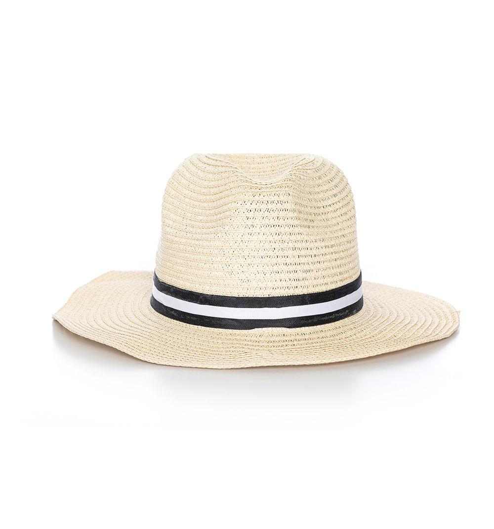 Sombrero De Rafia Con Ala Y Cinta Bicolor Ref S217358 - Studio F 82f2aae69ad