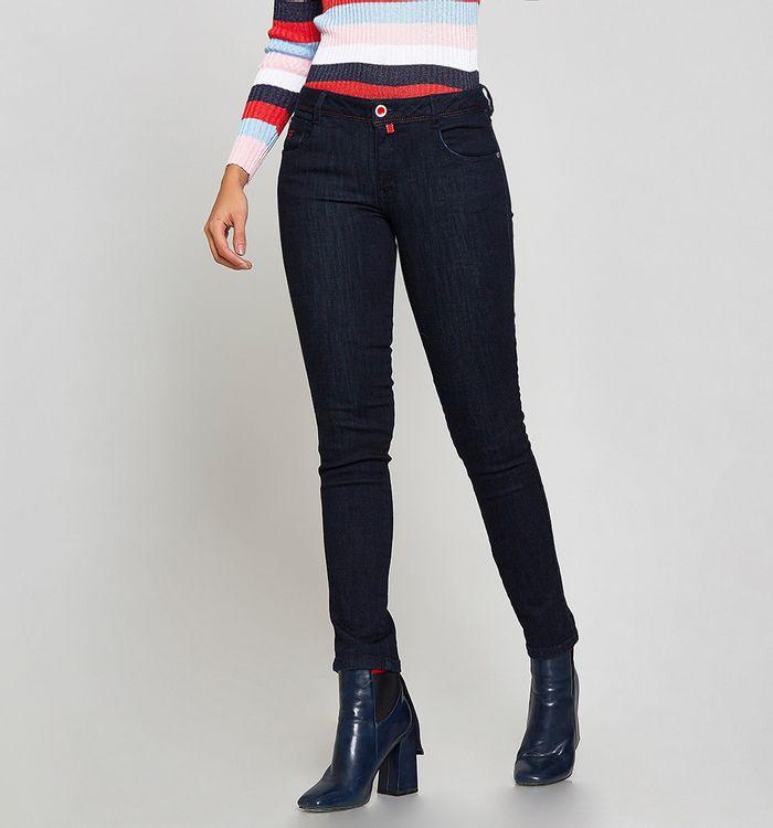 Jeans Skinny Tiro Medio Tono Oscuro 94f67d8f8cdd